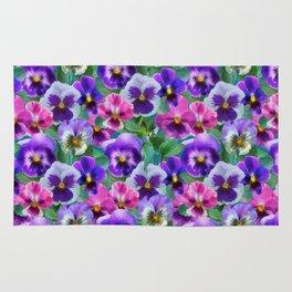 Bouquet of violets I Rug