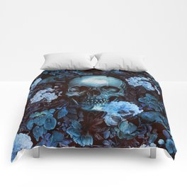 Skull and Flowers Comforters