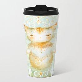 Gratitude Kitty Metal Travel Mug