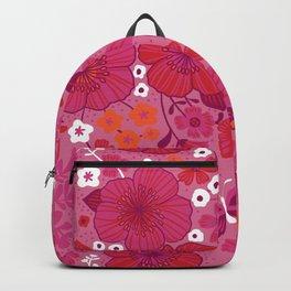 Vintage Florals in Pink and Scarlet Backpack