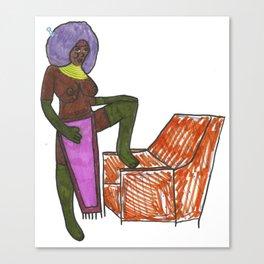 African queen Canvas Print