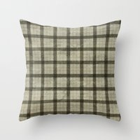 plaid Throw Pillows featuring Plaid by Joanne Anderson