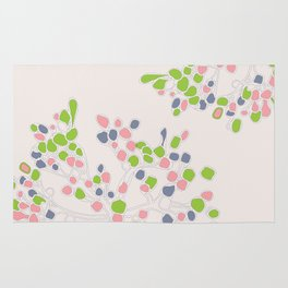 Floral abstract Rug