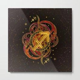 Sagittarius Zodiac Sign Fire element Metal Print