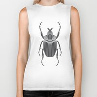 beetle Biker Tanks featuring Beetle by HotStamp
