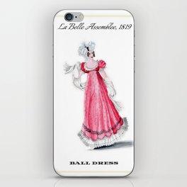 Fashion Plate 1819, Regency England iPhone Skin