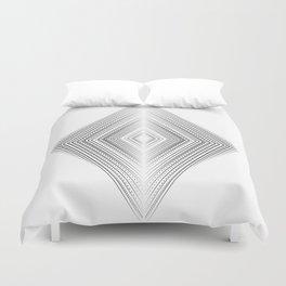 Fine lines geometric art, Zen and balance symmetry art Duvet Cover