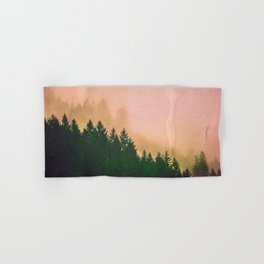 Cascadia Green Trees and Sunset Hand & Bath Towel