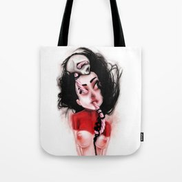Candy Cane Blood Tote Bag