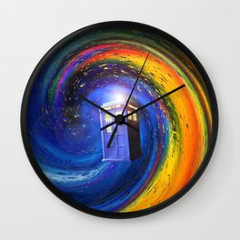Tardis Doctor Who Fly into Time Vortex Wall Clock
