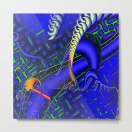 Tricky Bugger 3D Psychedelic Metal Print