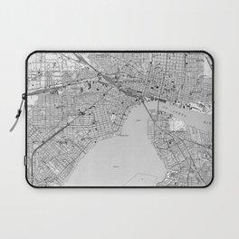 Vintage Map of Jacksonville Florida (1950) BW Laptop Sleeve