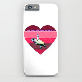 sea turtle for people who like ninjas  iPhone Case