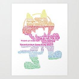 MonsterCat Typography Art Print