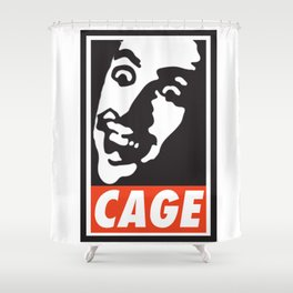 OBEY NICK CAGE Shower Curtain