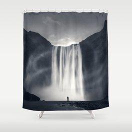 Stormy Skogafoss Shower Curtain