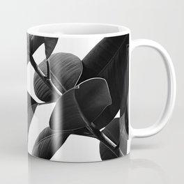 Ficus Elastica Black & White Vibes #1 #foliage #decor #art #society6 Coffee Mug