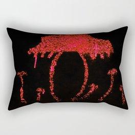 Shrooms Red Rectangular Pillow