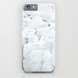 White winter glacier icelandic landscape photography iPhone Case
