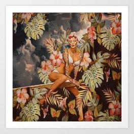 Swimming in the jungle Art Print