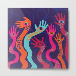 The Hands have Eyes Metal Print