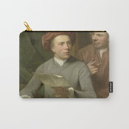 Julius Henricus Quinkhard - Self Portrait Standing beside the Artist is his Father and Teacher Jan M Carry-All Pouch