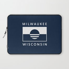 Milwaukee Wisconsin - Navy - People's Flag of Milwaukee Laptop Sleeve