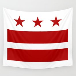 Washington DC District Of Columbia Flag Wall Tapestry