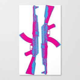 Neon AK-47 Canvas Print