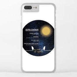 Alpha Centauri - Good Omens Fanart Clear iPhone Case