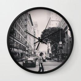 city streets. Wall Clock