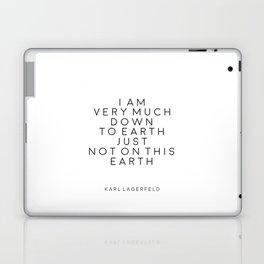 Fashion Wall Art Fashion Decor Karl Lagerfeld Quotes Karl Lagerfeld Print Printable Quotes Fashion Laptop & iPad Skin