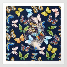 The Butterfly Collector Art Print