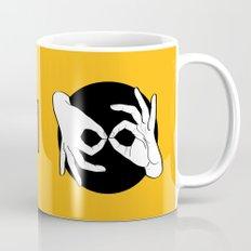 Sign Language (ASL) Interpreter – White on Black 09 Mug