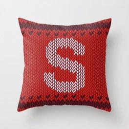 Alphabet Drop Caps Series- S Throw Pillow
