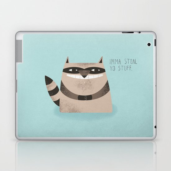 Sneaky Raccoon Laptop & iPad Skin
