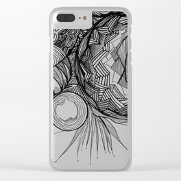 Crescents Clear iPhone Case