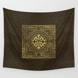 Gold Sri Yantra  / Sri Chakra Wall Tapestry