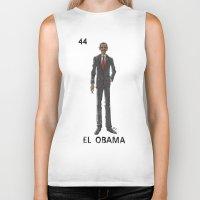 """obama Biker Tanks featuring EL OBAMA by """"dfrnt"""""""