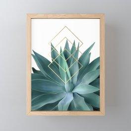 Agave geometrics Framed Mini Art Print