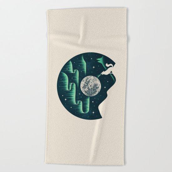 Arctic Tune Beach Towel
