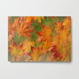 Falling Leaves - Autumn Metal Print