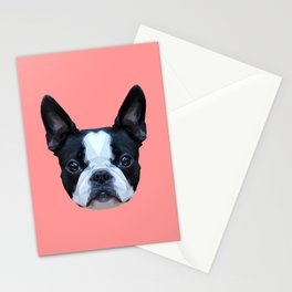 Frenchie / Boston Terrier // Pink Stationery Cards