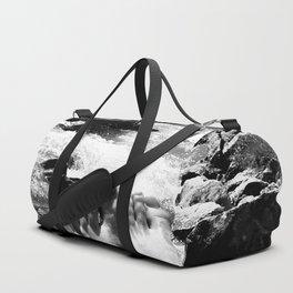 verpeil valley cold river feet kaunertal tirol austria europe black white Duffle Bag