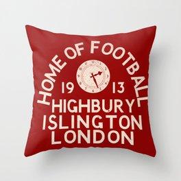 Highbury Football Ground Throw Pillow