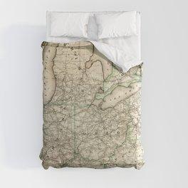 Map of the Pennsylvania Railroad (1871) Comforters