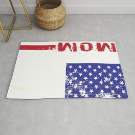Mom Distressed US Flag Rug