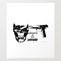 patriotic Art Prints featuring Patriotic by Tania Joy