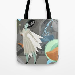 undead bride on secret laboratory Tote Bag