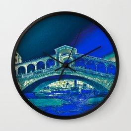 venice rialto bridge Wall Clock